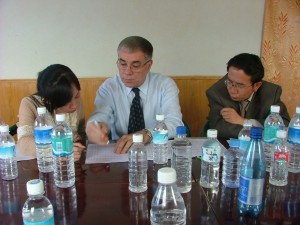 Working with Himalayan Mineral Water Company CEO in Lhasa, Tibet
