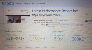 Website Design - Load Speed performance tool